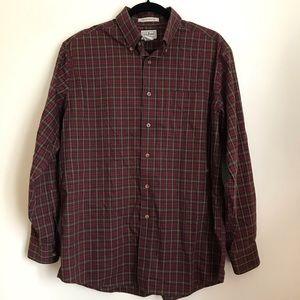 L.L. Bean Shirts - L.L. Bean Wrinkle Resistant Plaid Button Down